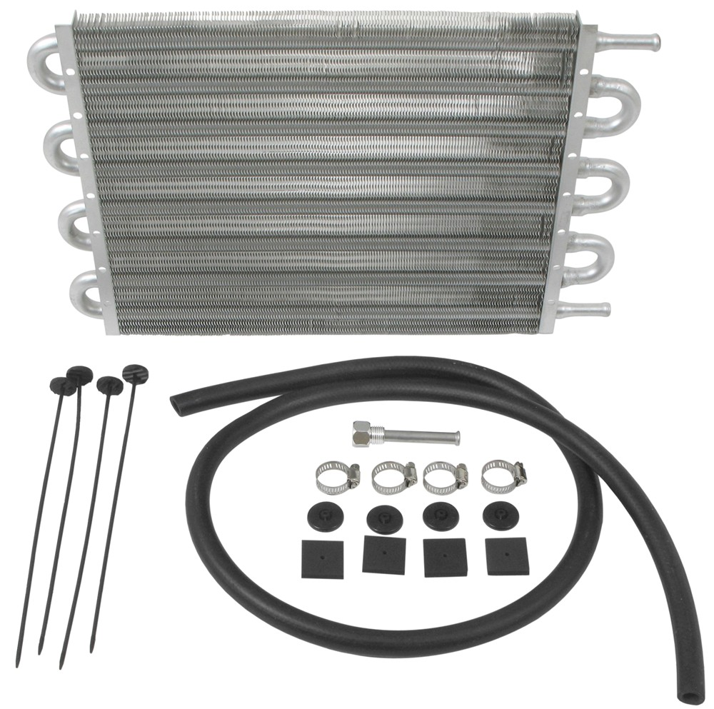 Derale Dyno-Cool Tube-Fin Transmission Cooler Kit - Class IV - Economy With 11/32 Inch Hose Barb Inlets D12904