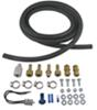 derale accessories and parts  remote mounting kit for transmission coolers - 3/8 inch lines