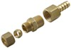 derale accessories and parts  3/8 inch npt hose barb transmission line compression fitting kit - to