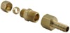 derale accessories and parts transmission coolers line compression fitting kit - 3/8 inch to npt barb