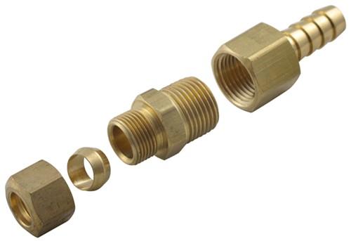 Derale Transmission Line Compression Fitting Kit - 3/8 ...