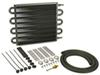 derale transmission coolers standard mount series 7000 tube-fin cooler kit w/ hose barb inlets - class iii