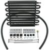 derale transmission coolers standard mount series 7000 tube-fin cooler kit w/ hose barb inlets - class iv