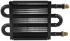 "Derale Tube-Fin Power Steering Cooler with AN Inlets - 5"" Tall 8-1/4W x 5T x 3/4D Inch D13309"