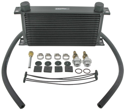 Derale 19-Row Stacked-Plate Transmission Cooler Kit, -6 AN ...