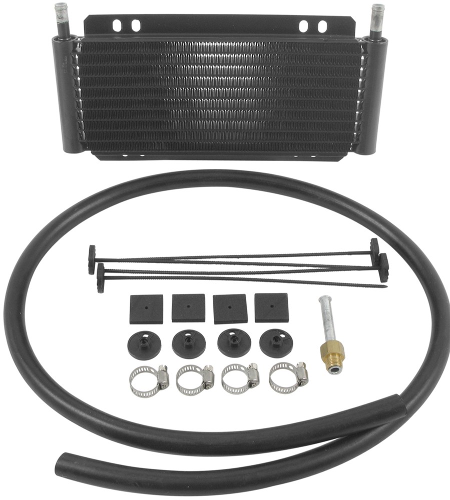 Derale Series 8000 Plate-Fin Transmission Cooler Kit w/Barb Inlets - Class II - Efficient Class II D13501