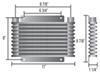 derale transmission coolers plate-fin cooler standard mount d13613