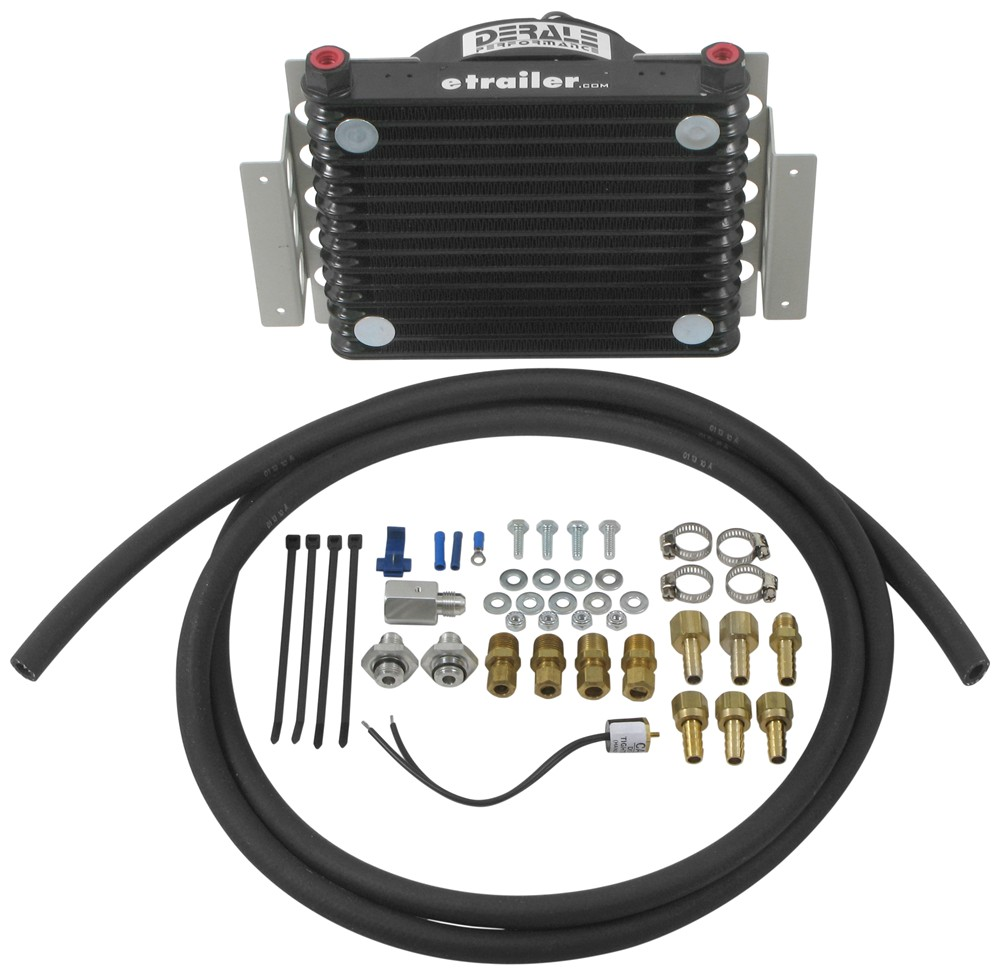 Derale Atomic-Cool Remote Transmission Cooler Kit w/ Fan, -6 AN Inlets -  Class V Derale Transmission Coolers D13950