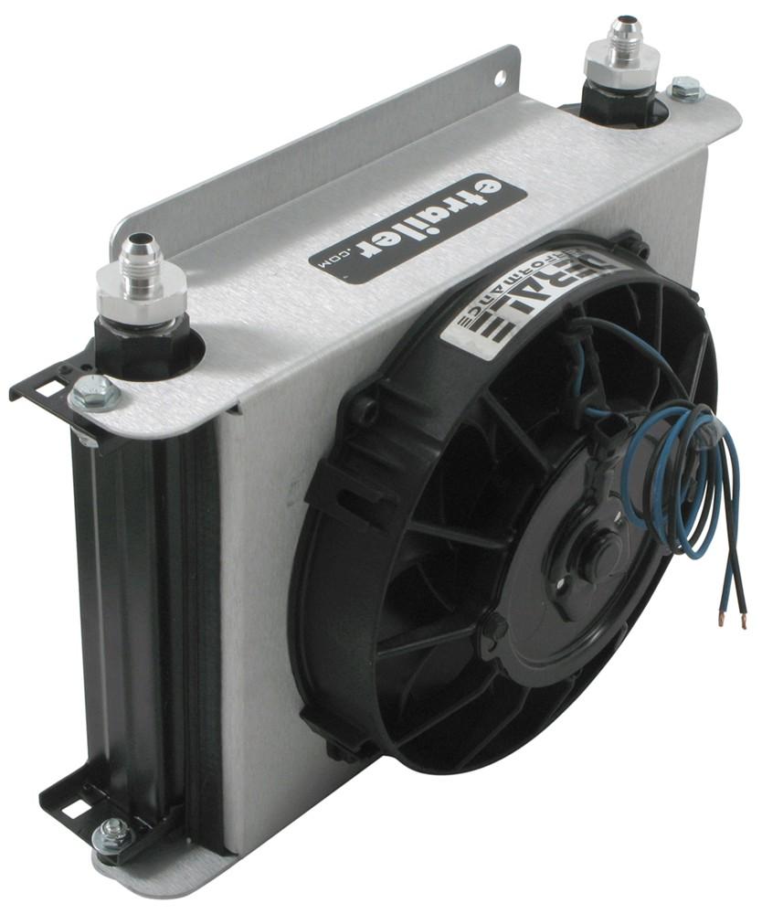 Derale Hyper Cool Remote Transmission Cooler Kit W Fan