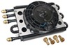 derale transmission coolers standard mount econo-cool combo engine and cooler assembly w/ fan -8 an inlets