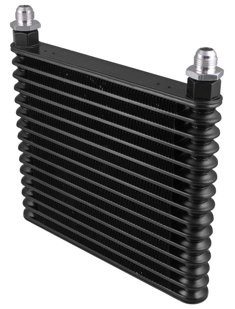 derale plate fin engine oil cooler kit  adjustable sandwich adapter multiple threads class