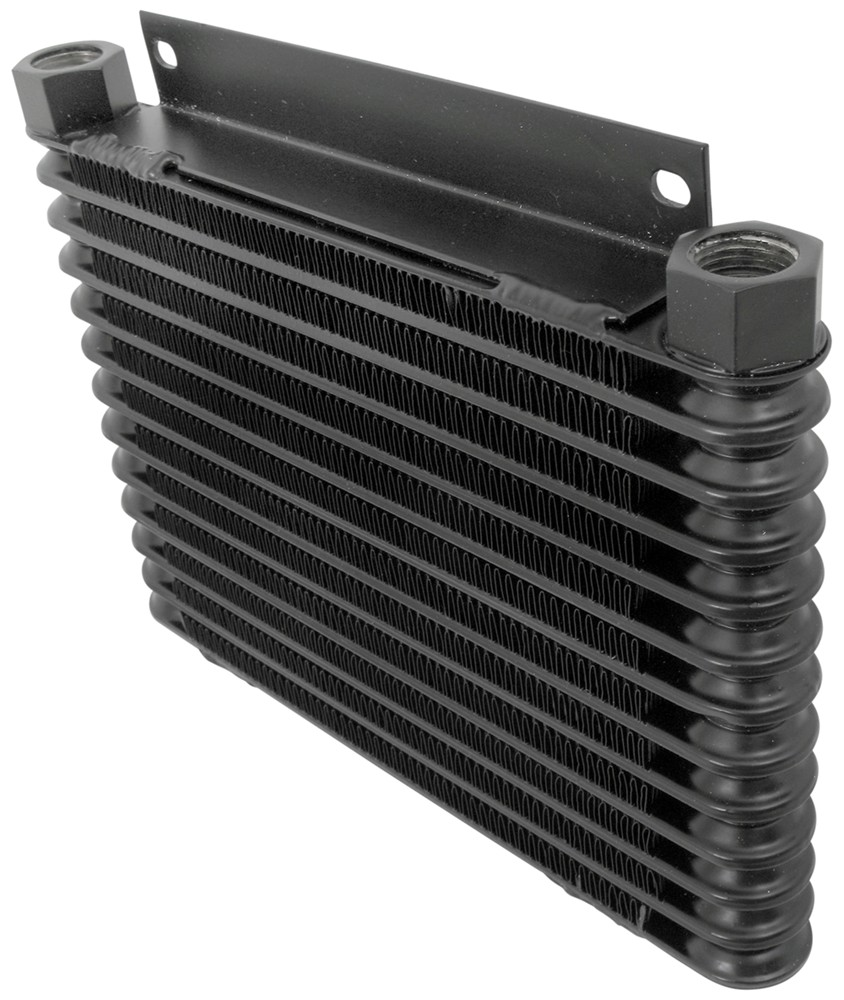 Engine Oil Cooler : Derale plate fin engine oil cooler kit w spin on adapter