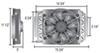 derale engine oil coolers tube-fin cooler d15500