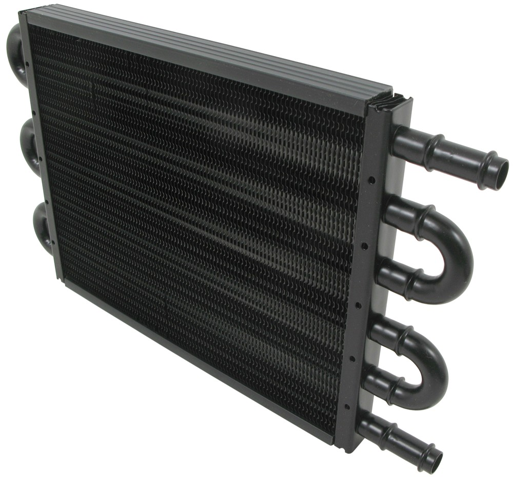 Engine Oil Cooler : Derale tube fin engine oil cooler kit w sandwich adapter
