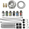 derale engine oil coolers tube-fin cooler kit w/ sandwich adapter (multiple threads) - class ii
