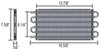 D15502 - With 3/8 Inch NPT Derale Tube-Fin Cooler