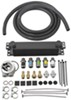 derale engine oil coolers  stacked-plate cooler kit w/ sandwich adapter (multiple threads) - class iii
