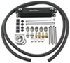 Derale Stacked-Plate Engine Oil Cooler Kit w/ Non-Thermostatic Sandwich Adapter - Class III W/ Sandwich Adapter D15604