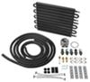derale transmission coolers standard mount combination and engine oil cooler with multiple threads