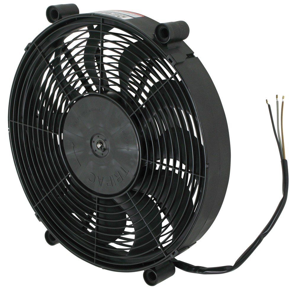 Radiator Cooling Fans : Derale quot high output electric single radiator fan