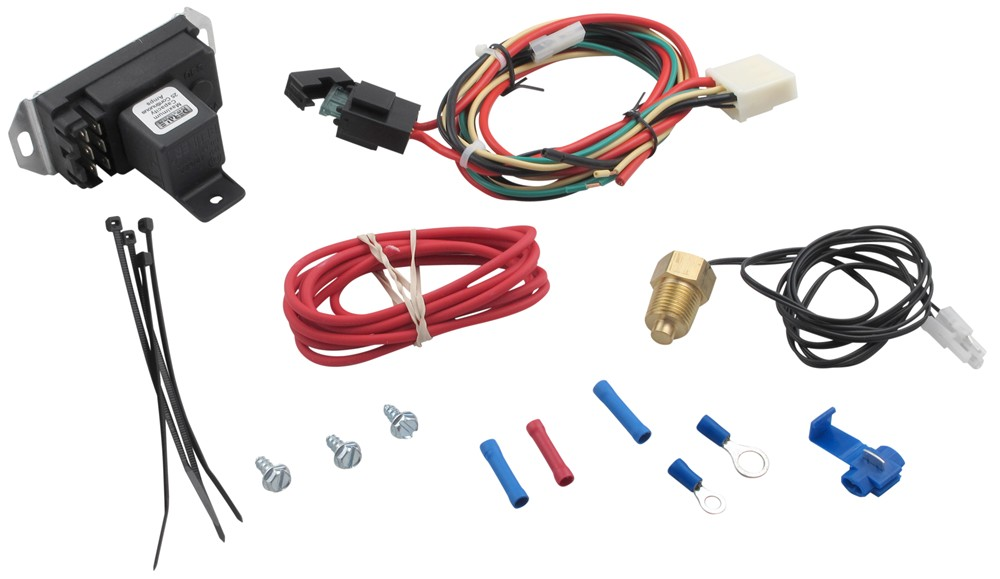 derale adjustable fan-control thermostat with thread-in probe derale  accessories and parts d16749