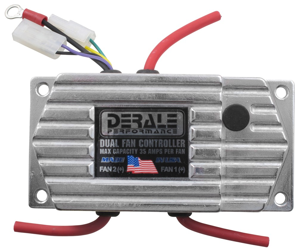 Derale Dual Fan Adjustable Fan Control Thermostat With Push In