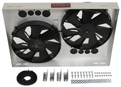 "Derale 26"" Dual High-Output, Electric Radiator Fan w/Aluminum Shroud Assembly - 4,000 CFM"