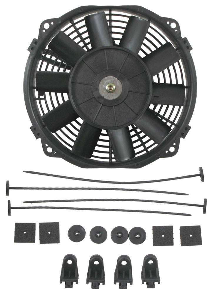 "Derale 8"" Dyno-Cool Straight-Blade Electric Fan - 350 CFM Straight Blade D16908"