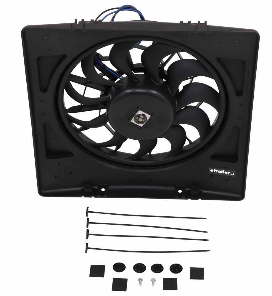 "Derale 16"" High-Output, Electric Radiator Fan-and-Shroud Assembly - 2,200 CFM High-Output Fan D16926"