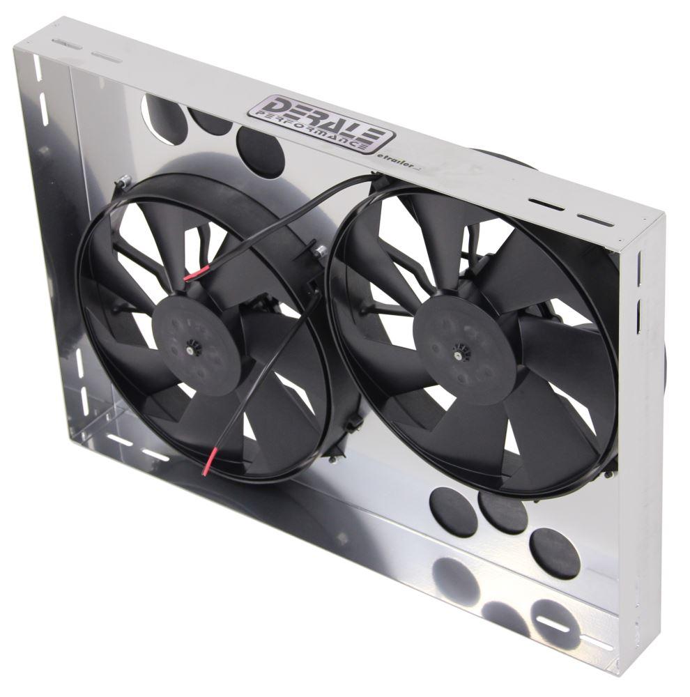 Electric Radiator Fan : Derale quot dual high output electric radiator fan and