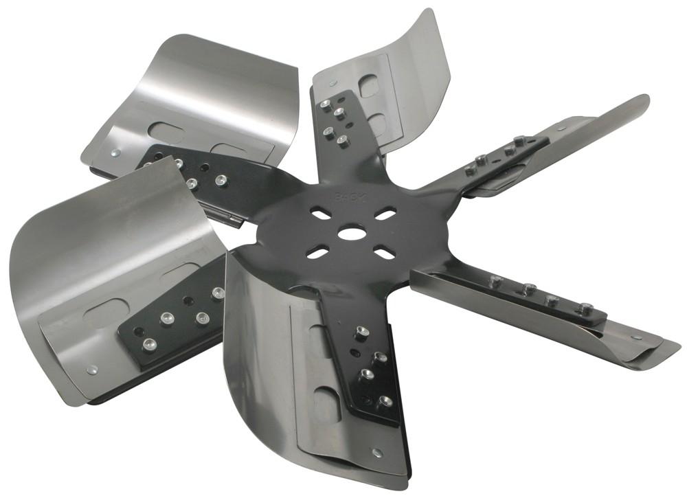 Heavy Duty Fan : Derale quot heavy duty stainless steel flex fan black hub