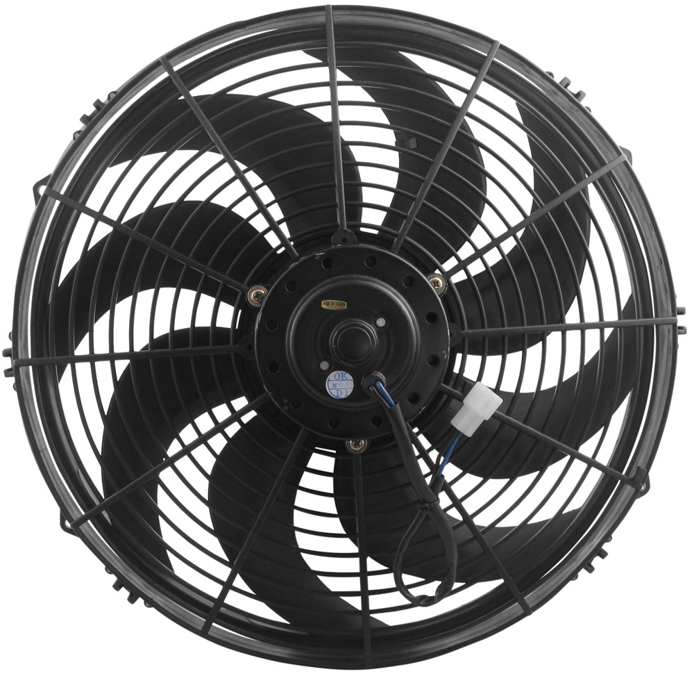 Electric Cooling Fans : Derale quot dyno cool curved blade electric fan cfm