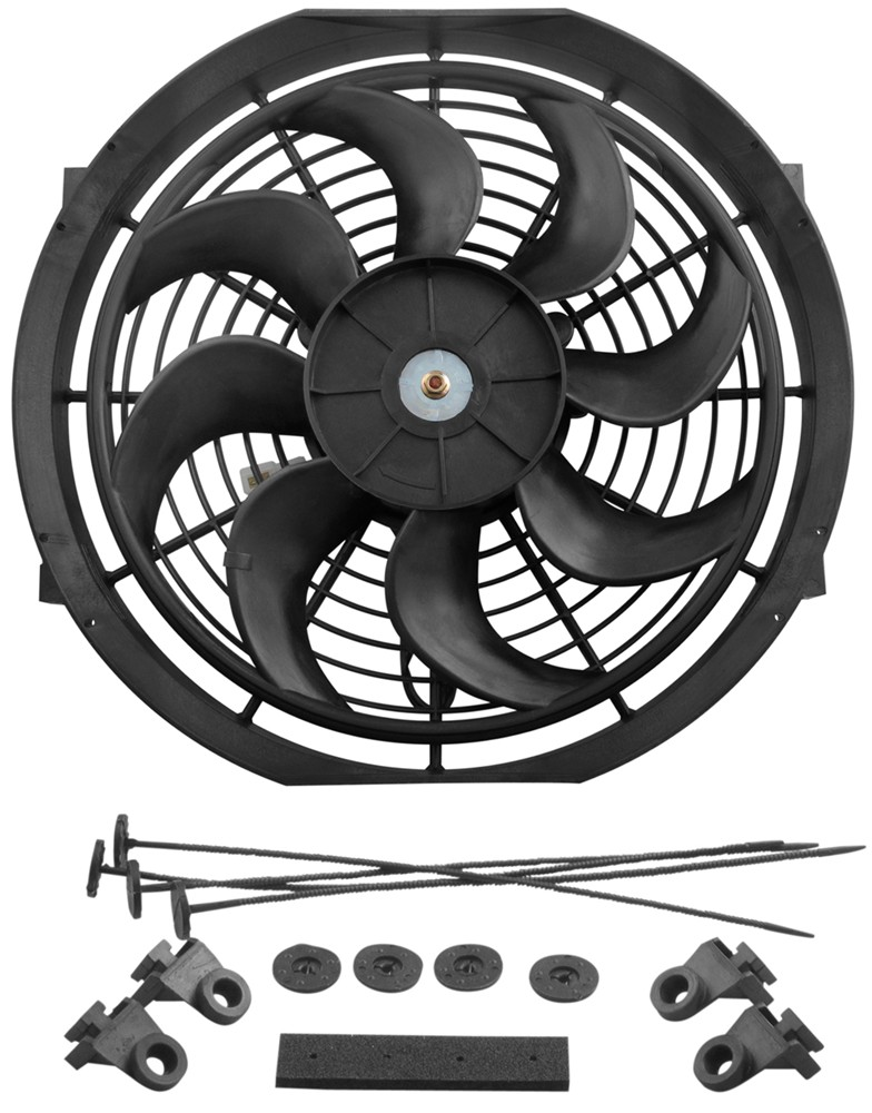 Derale 12 Dyno Cool Curved Blade Electric Fan