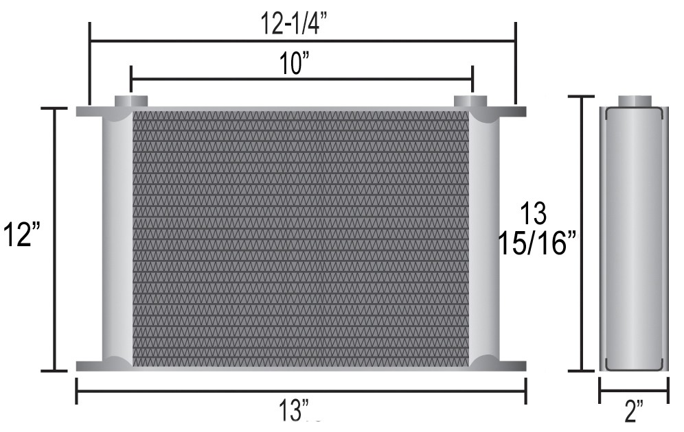 Derale 54010 40 Row Core Stacked Plate Cooler Kit