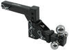 curt ball mounts drop - 6 inch rise 4 class iv 10000 lbs gtw multi-ball adjustable mount for 2 trailer hitches
