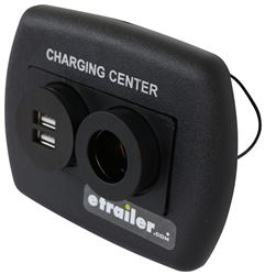 Charging Station - 12 Volt and USB - Black