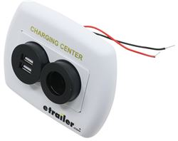 Charging Station - 12 Volt and USB - White