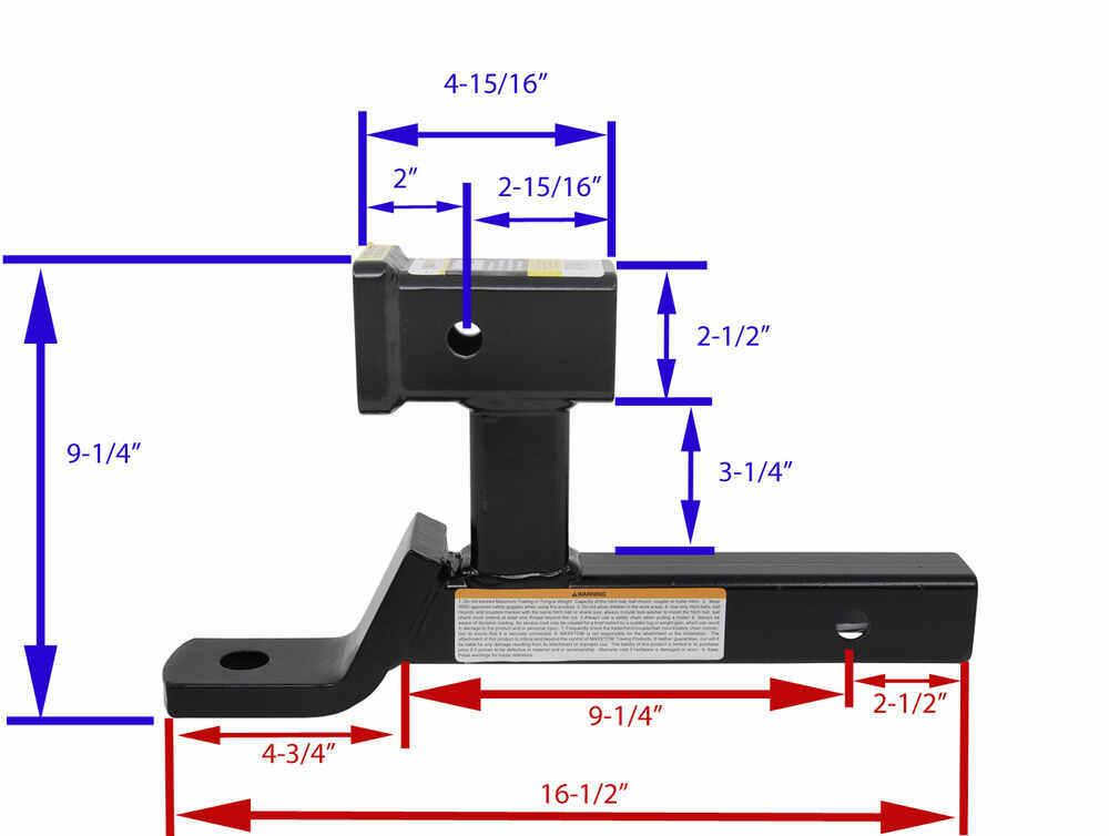 Compare Maxxtow Ball Mount Vs Curt Multipurpose Etrailer Com