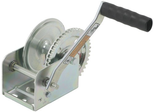 Dutton-Lainson Hand Winch - TUFFPLATE Finish - Single Speed - 1,100 lbs Wire Rope,Polyester Strap DL15103