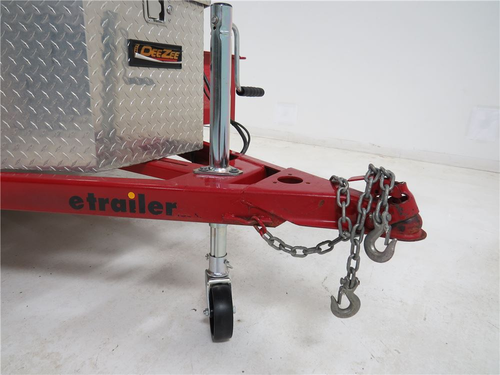 Trailer Frame Parts : Removable wheel for dutton lainson a frame trailer jack