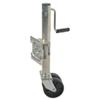 Pull Pin Easy Swivel Trailer Jack with 6 Inch Dual Wheels Side Wind 1500 lbs