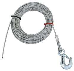 Hand Winch Cable with Safety Hook 7/32