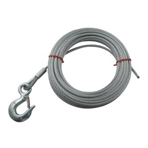 """Hand Winch Cable with Safety Hook 7/32"""" Diameter x 25' Long - 2,500 lbs. 25 Feet Long DL24047"""
