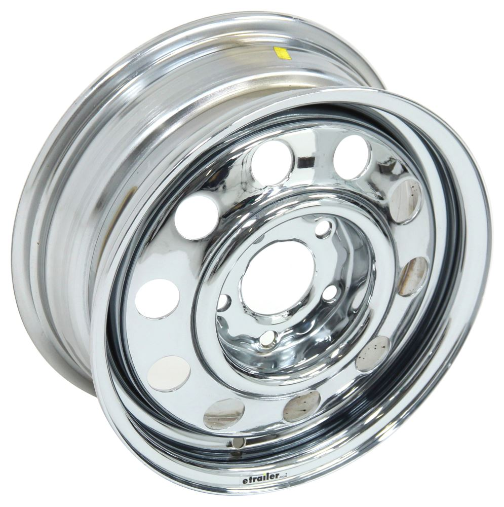 Replacement Wheel for Demco Kar Kaddy SS Tow Dolly - Chrome Tow Dolly Parts DM11574