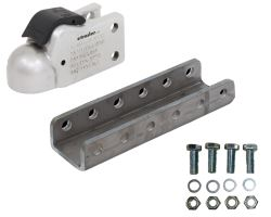"Demco Trailer Coupler w/ 5-Position Adjustable Channel - eZ-Latch - Silver - 2-5/16"" Ball - 20K"