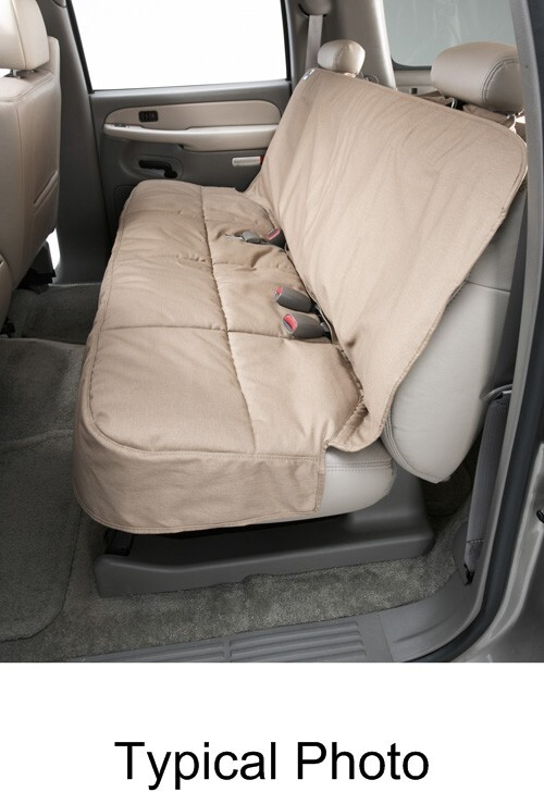 Canine Covers Semi-Custom Seat Protector for Rear Bench Seats with Headrests - Wet Sand Second DSC3012SA