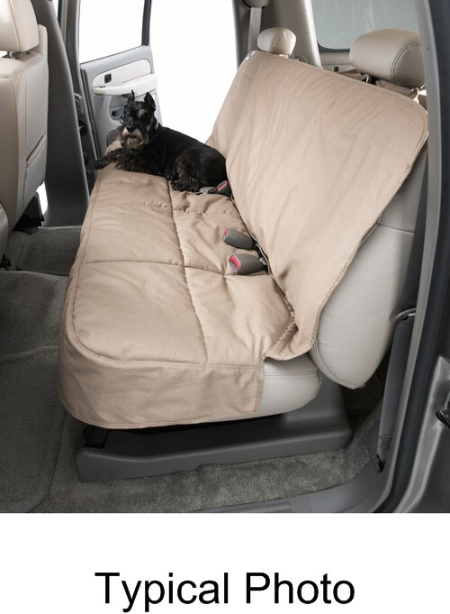 2016 toyota rav4 canine covers semi custom seat protector for rear bench seats with headrests tan. Black Bedroom Furniture Sets. Home Design Ideas