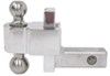 "Self-Locking, Adjustable 2-Ball Mount w Stainless Balls - 2"" Hitch - 4"" Drop/5"" Rise Stainless Steel Ball DTALBM6400-2S"