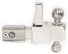"Self-Locking, Adjustable 2-Ball Mount, Stainless Balls - 2.5"" Hitch - 4"" Drop/5"" Rise Drop - 4 Inch,Rise - 5 Inch DTALBM6425-2S"