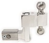 "Self-Locking, Adjustable 2-Ball Mount, Stainless Balls - 2.5"" Hitch - 4"" Drop/5"" Rise Fits 2-1/2 Inch Hitch DTALBM6425-2S"